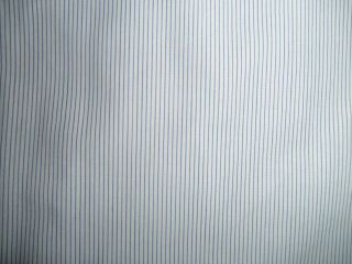 Ermenegildo Zegna Mens Dress Shirt 17 35 White Blue Stripes French