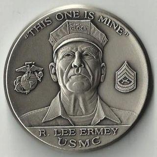 Gunny R Lee Ermey Glock Pistols Marine Challenge Coin