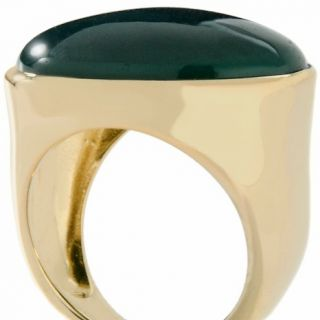 una by R.F.M.A.S. 18K Gold Plated Sterling Silver Onyx East/West