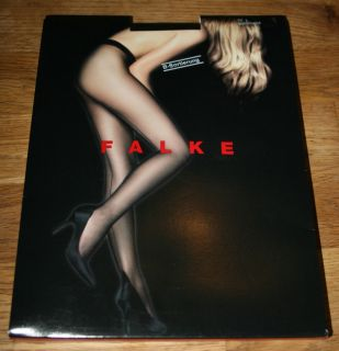 Falke High Heel Back Seam Sheer to Waist Glossy 12 D Tights Pantyhose
