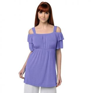 124 422 slinky brand slinky brand off the shoulder empire waist tunic