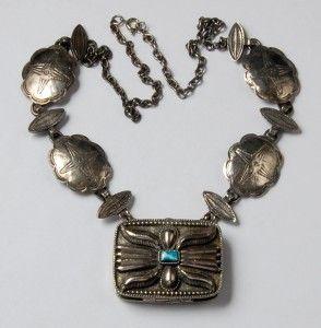 Vintage Retro Signed Estee Lauder Perfume Compact Necklace