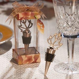 36 Autumn Themed Wine Bottle Stopper Wedding Bridal Shower Favors