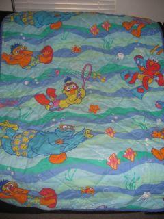 Blanket Throw Underwater Swimming Elmo Bert Ernie Zoe 52 x 40