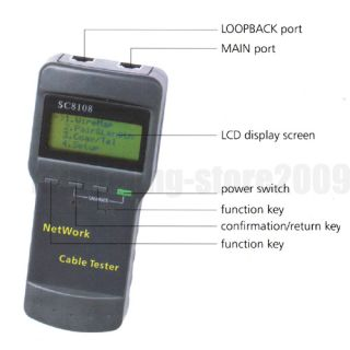 RJ45 CAT5 Network Cable Tester Meter Length SC8108 873