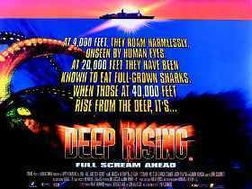 Deep Rising Famke Janssen Treat Williams Original 30x40 UK Quad Movie