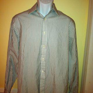 Sz 15 5 33 Charles Tyrwhitt Jermyn Street London Long Sleeve Dress