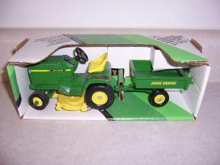 John Deere Lawn Garden Tractor Set Ertl Vintage Farm Toy Mower