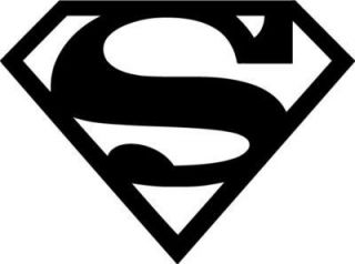 Superman Logo Vinyl Sticker Decal Choose Size and Color