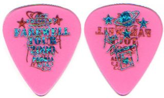 Kiss Ace Frehley Farewell City Guitar Pick Peoria Pink Blue 5 15 Tour