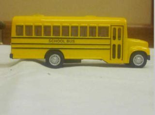 Yellow Toy School Bus with Stop Sign on Side Kids Toy