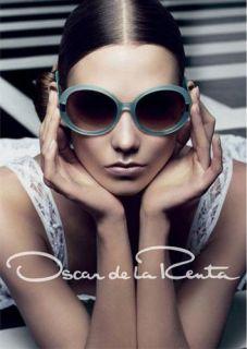 New Oscar de La Renta 13 53 18 135 Brown Semi Rim Eyeglass Glasses