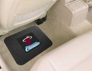 NBA Champions 2pc Heavy Duty Vinyl Utility Rear Car Floor Mats