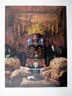 William R Eubanks Interior Design Antiques 1996 Print Ad Advertisement