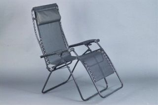 Faulkner Zero Gravity Patio & Camp Chair   Black Mesh   Standard Size