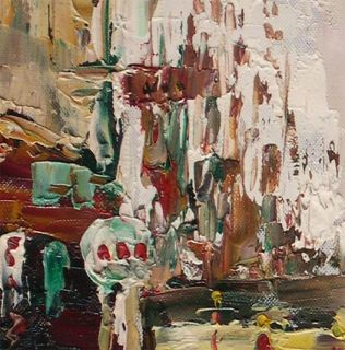 Faure_New York Street Scene_Original Oil Painting+Wood Frame