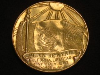 RARE Emiliano Zapata Mexican Revolution Gold Coin Mexico Peso 42 Grams