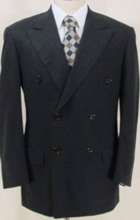 600 OXXFORD Clothes Fawnskin Laurent Dark Gray Suit 40 R Saks Fifth