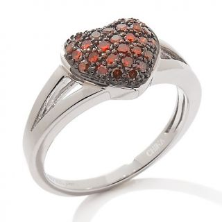 174 742 3ct red diamond sterling silver heart ring rating 3 $ 111 93 s