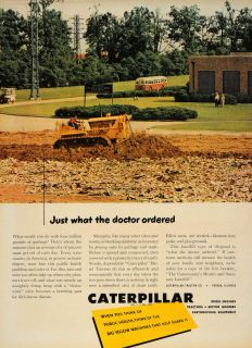 1950 Ad Caterpillar Diesel Machinery Tractor Equipment   ORIGINAL