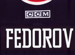 Sergei Fedorov Columbus Blue Jackets CCM Jersey Medium