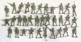 MPC 1960s U.S. ARMY MEN G.I.s SOLDIER PLAYSET FIGURE LOT OF 30+ IN