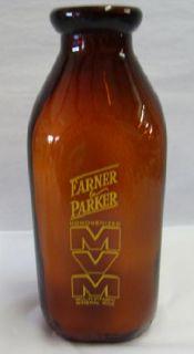 FARNER & PARKER DAIRY MILK BOTTLE GOWANDA NY #10