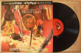 The Music of Franz Liszt Arthur Fiedler & The Boston Pops Orchestra LP