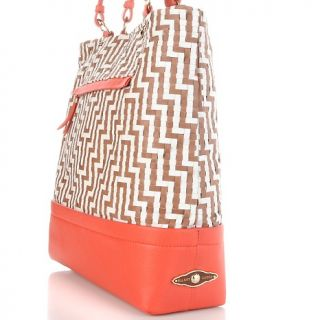 Elliott Lucca Cartagena Woven Leather Tote Handbag