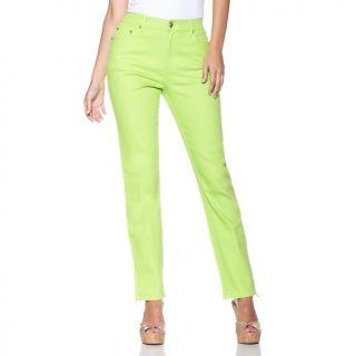 178 576 diane gilman stretch denim skinny jeans with jeweled ankle