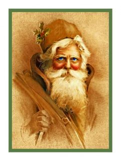 Victorian Father Christmas Santa Claus 218 Counted Cross Stitch Chart