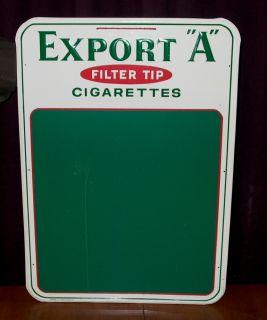 Vintage Export A Filter Tip Cigarettes Tin Chalk Board Sign Barker