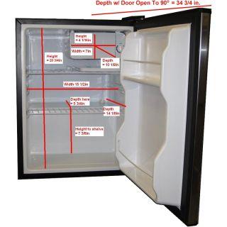 Freezer Combo Stainless Steel Countertop Energy Star Fridge