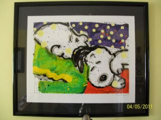 Tom Everhart Boring Snoring Snoopy Charlie Brown Peanuts Lithograph