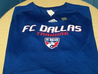 Dallas MLS Soccer Team Adidas Training Workout Shirt New Adult LG