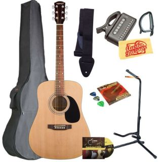 Fender Starcaster Acoustic Guitar Bundle w Gigbag Strings Tuner More