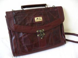 Vtg Brown Marc Chantal Leather Satchel Large Hand Bag Boho Laptop Work