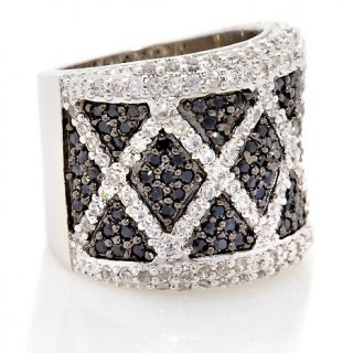 200 534 justine simmons jewelry black and white pave crystal