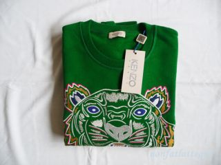 kenzo paris tiger sweater green femme extra large new