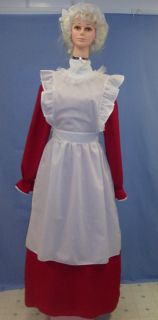 Mrs Santa Claus Clause Suit Christmas Costume Dress Extra Large