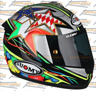 Suomy Excel Capirossi 2012 Full Face Motorcycle Helmet Medium