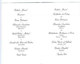 excelsior hotel ernst menu koln germany cheese water
