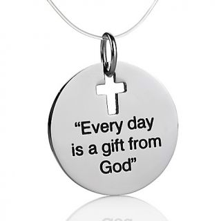Michael Anthony Jewelry Inspirational Stainless Steel Disc Pendant