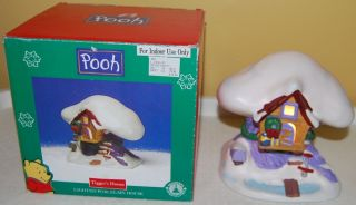 Winnie the Pooh lighted porcelain Tiggers House   Christmas