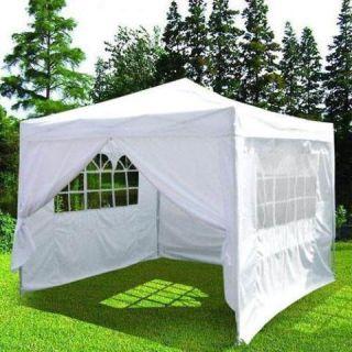 10x10 EZ Pop Up Wedding Party Tent Canopy Gazebo White with Oxford
