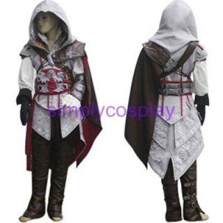 Assassins Creed II Ezio Kids Cosplay Costume Any Size