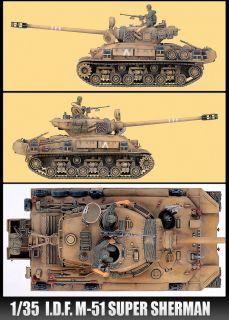 New I D F M 51 Super Sherman 1 35 Scale Academy Model Ki ank