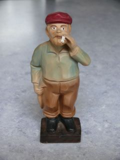 Vintage Hand Painted Enesco Decorama Smoking Fisherman Figurine