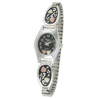12K Black Hills Gold Ladies Silver Expansion Watch