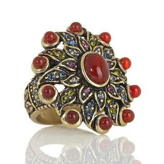 221 277 heidi daus endless beauty carnelian and crystal flower ring